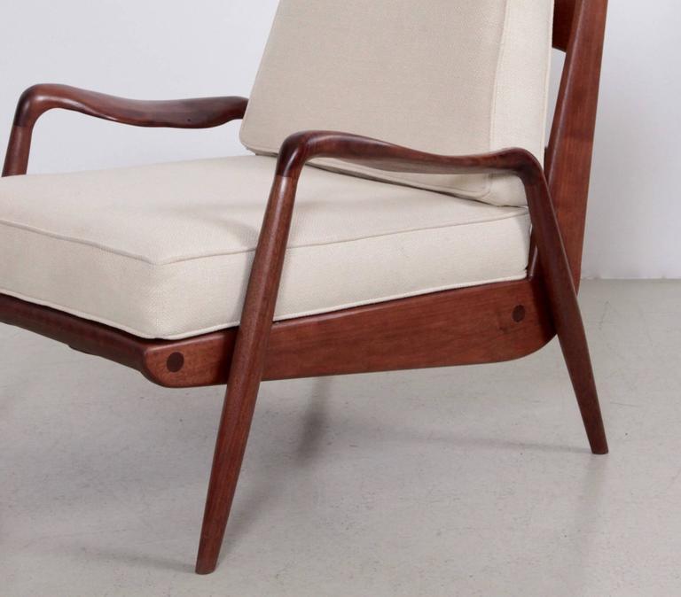 Phillip Lloyd Powell 'New Hope' Lounge Chair in Black Walnut 1