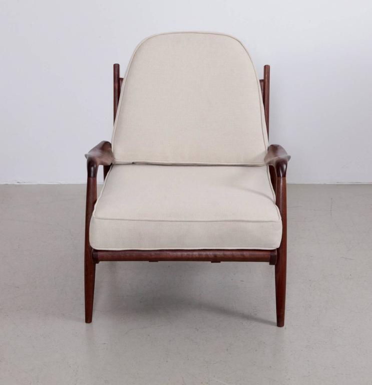 Mid-Century Modern Phillip Lloyd Powell 'New Hope' Lounge Chair in Black Walnut