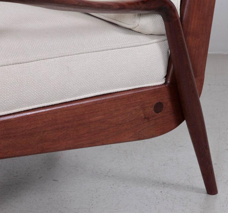Phillip Lloyd Powell 'New Hope' Lounge Chair in Black Walnut 2