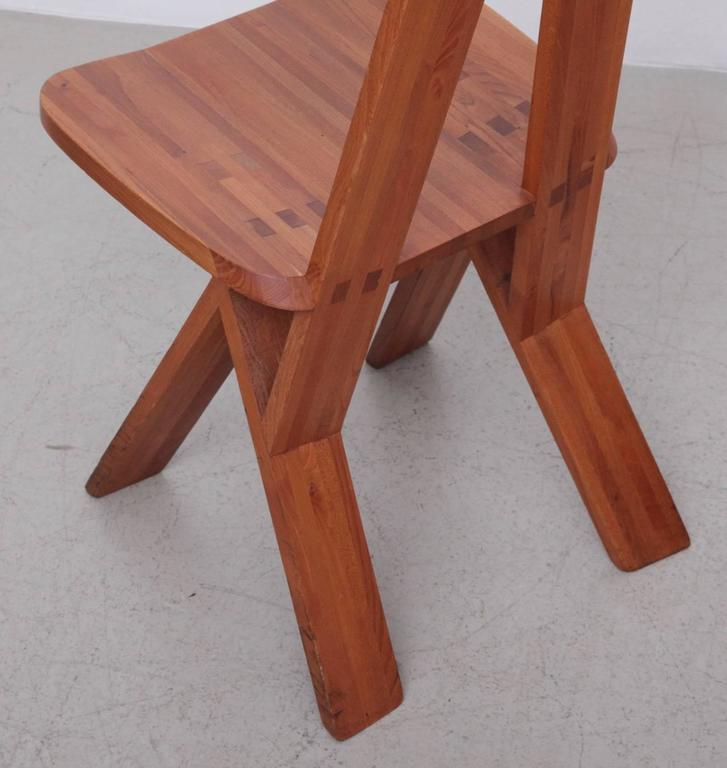 Pair of Two Pierre Chapo S45 Chairs in Solid Elm In Good Condition For Sale In Berlin, DE