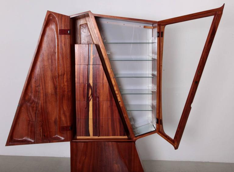 Late 20th Century One of a Kind Studio Charles B. Cobb Cabinet, US, 1980s For Sale