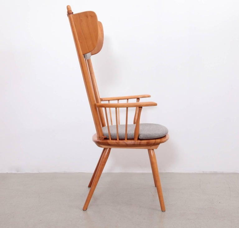 Mid-20th Century Albert Haberer Wingback Armchair, Germany, 1950 For Sale