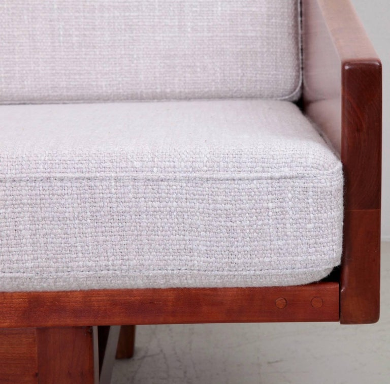 Rare Solid Walnut Arden Riddle Four Seat Sofa Usa 1967