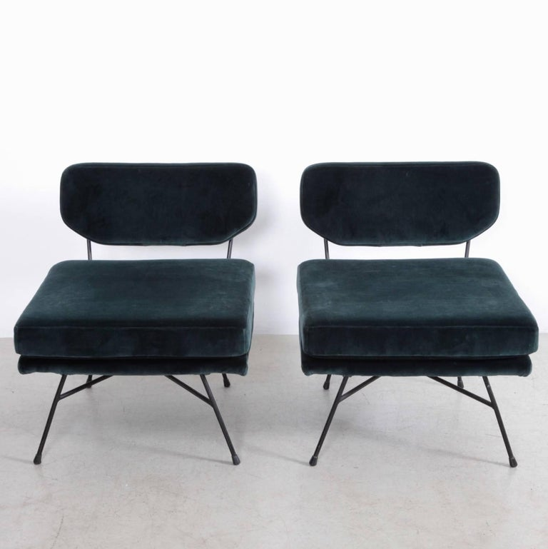 Missoni Home Lounger Chair Jalamar: Pair Of Early BBPR Elettra Lounge Chairs In New