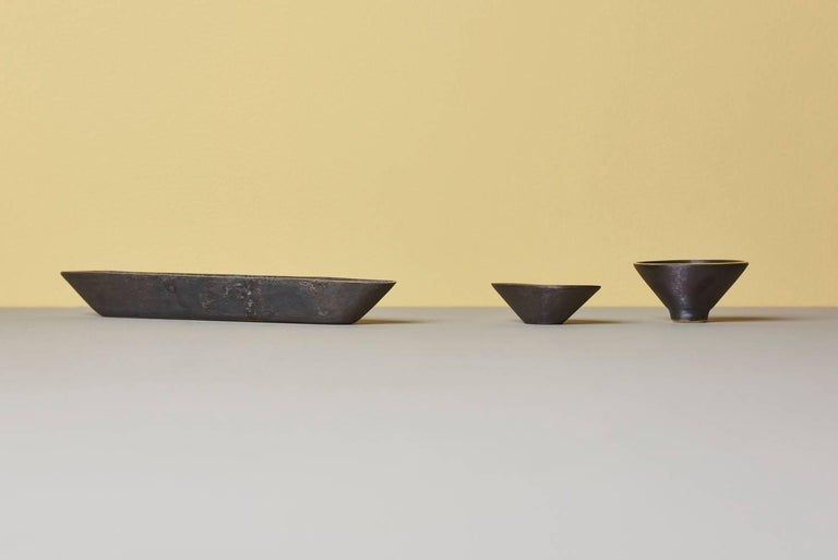Austrian Set of Three Bowls by Carl Auböck For Sale