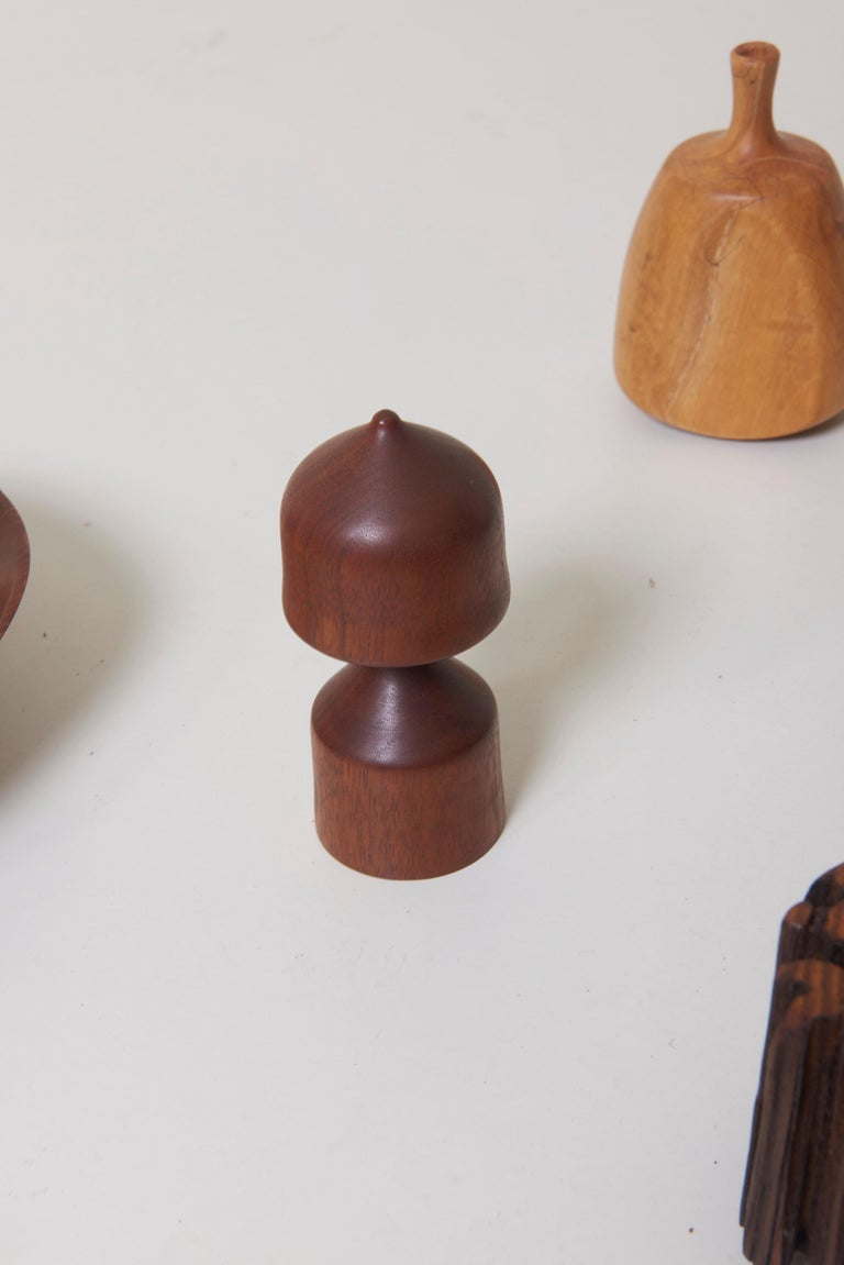 Late 20th Century Large 15-Piece Rude Osolnik Turned Wood Collection For Sale