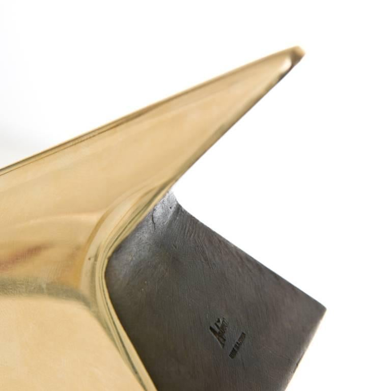 Pair of Carl Auböck Bookends in a Patina and Polish Brass Mix For Sale 3