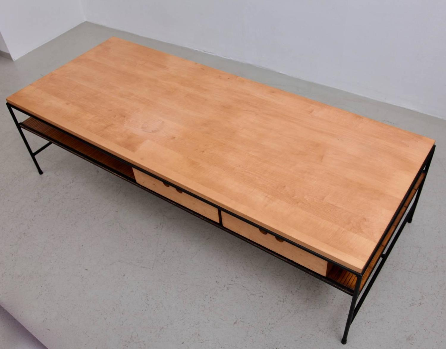 Paul Mccobb Planner Group Wrought Iron Coffee Table for
