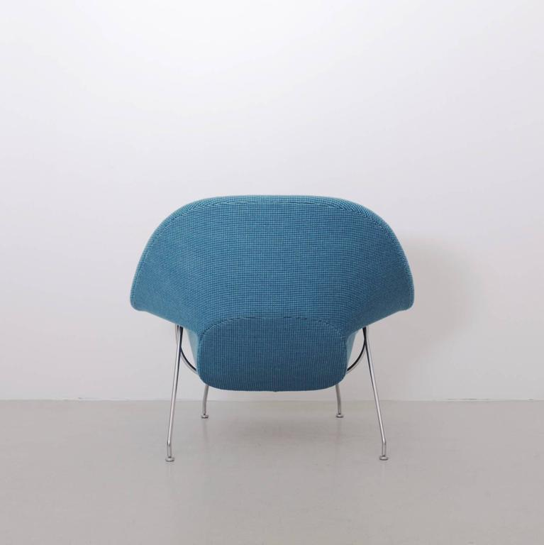 German Eero Saarinen Womb Chair by Knoll in new Cato Fabric