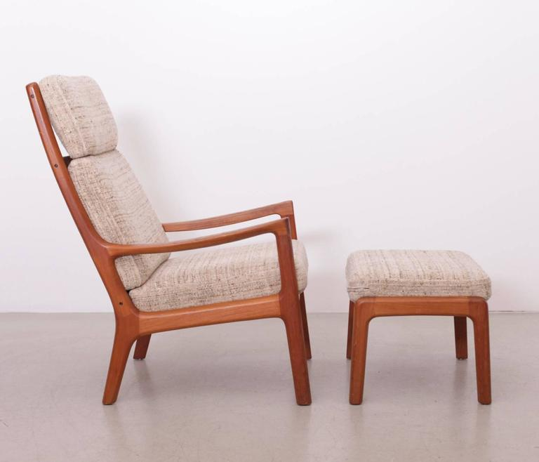 Good Original Excellent Condition On This Danish Classic Lounge Chair By Ole  Wanscher. *This Piece