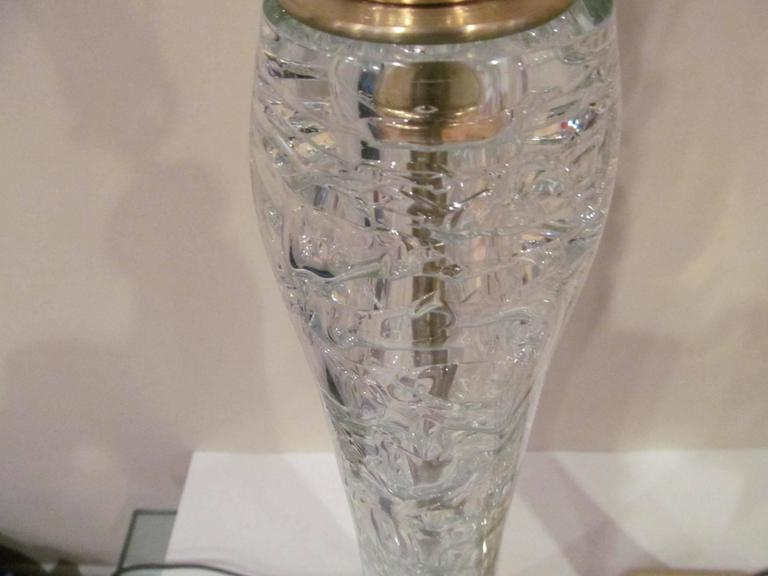 Pair of Clear Rock Crystal Lamps  3