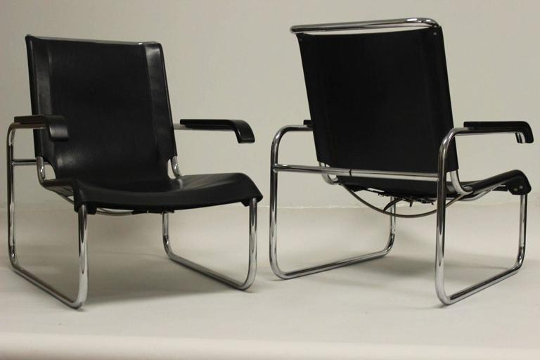 pair of thonet b 35 chairs designed by marcel breuer at 1stdibs. Black Bedroom Furniture Sets. Home Design Ideas
