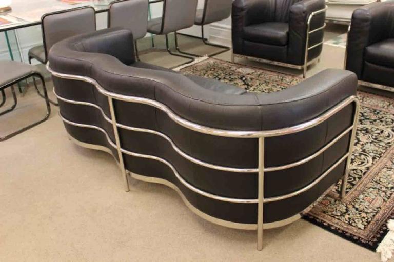 Italian Zanotta 1980s Three-Piece Living Room Suite, Pair of Chairs and Sofa