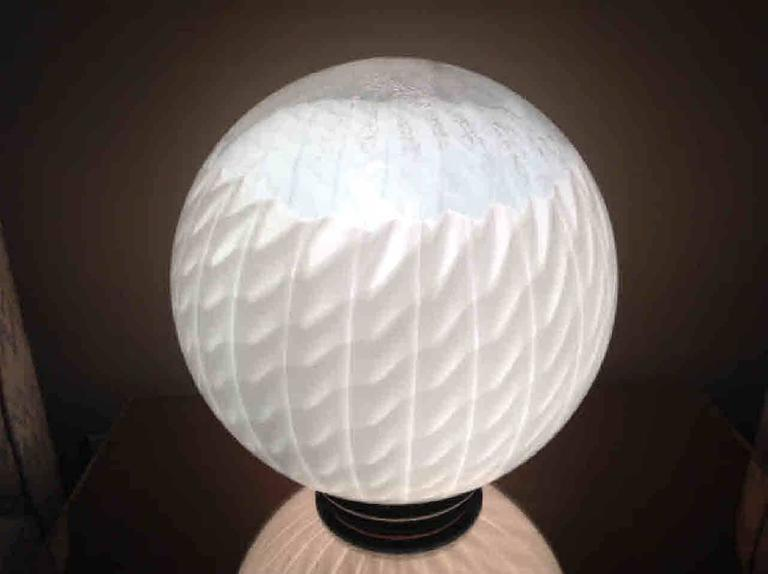 Italian Large Murano Circular Table Lamp by VeArt For Sale