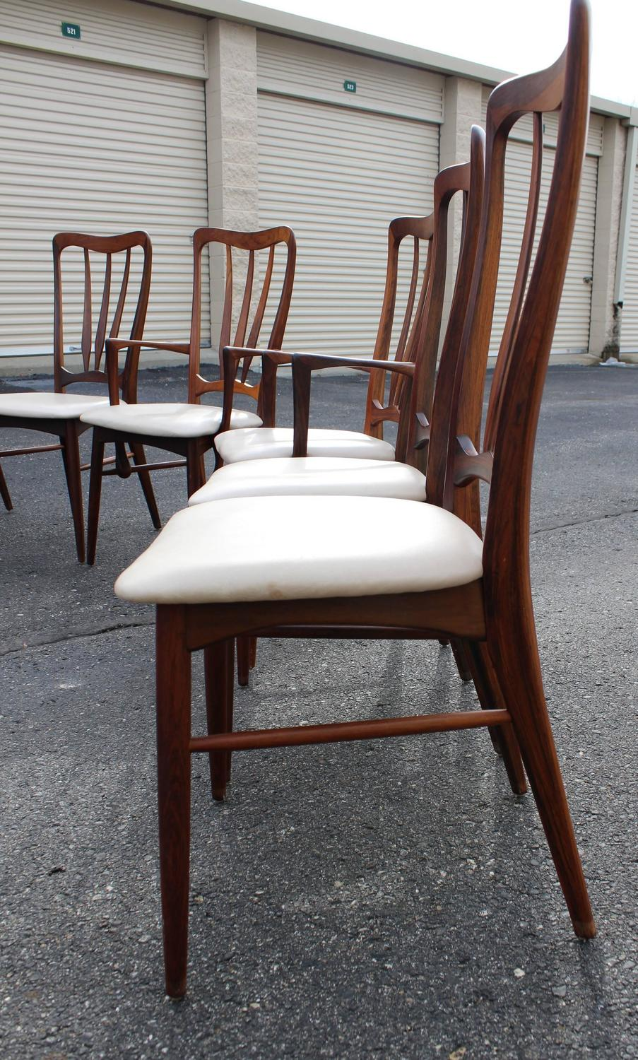 Kurt Ostervig Rosewood Dining Set With Six Matching Rosewood Chairs For Sale