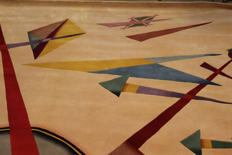Large Abstract Guggenheim Modern Arts Collection Rug At