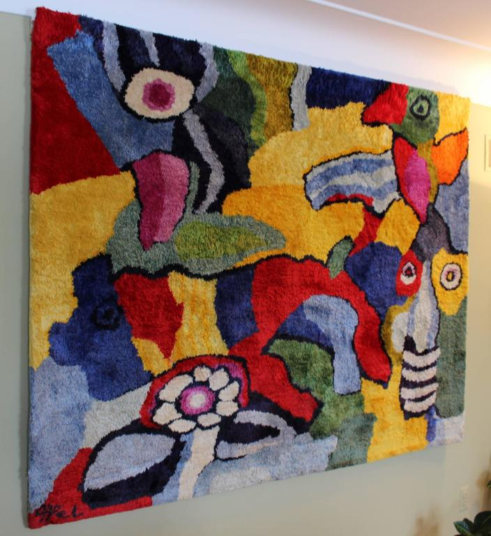 Monumental Original Fiber Art Karel Appel Rug At 1stdibs