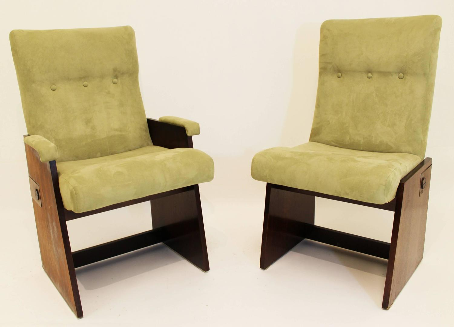 of eight lane dining chairs includes two armchairs and six side chairs