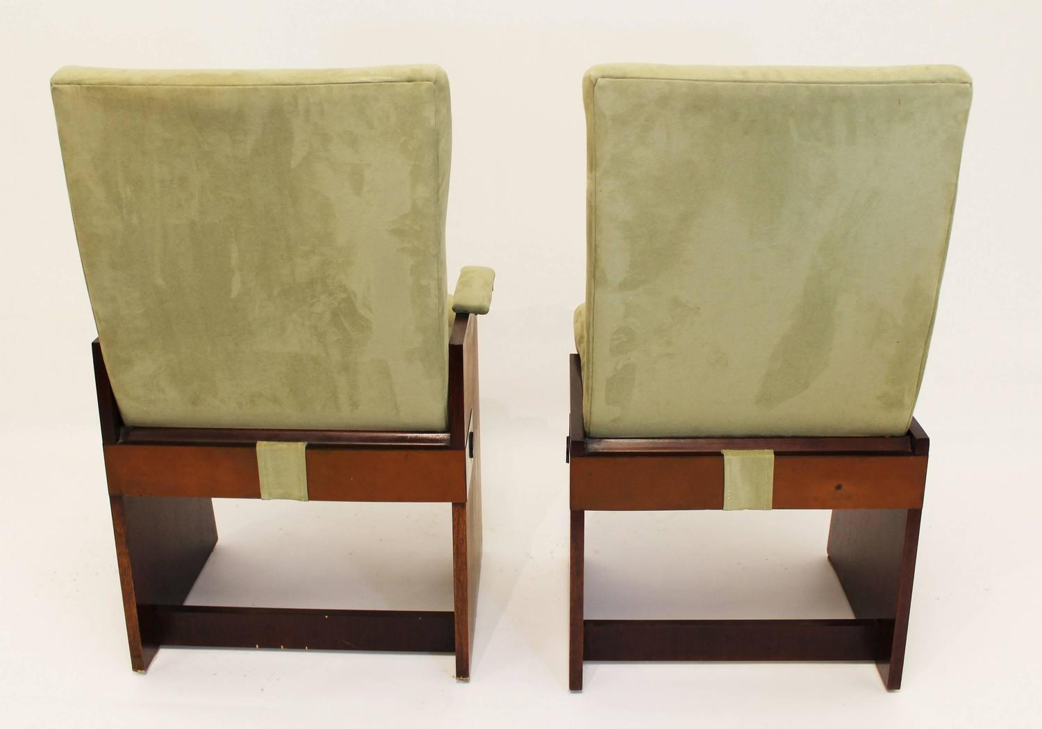 set of eight lane brutalist style dining chairs for sale at 1stdibs