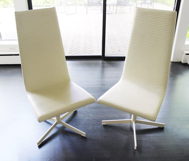 B b italia set of five white leather dining chairs at 1stdibs for B b italia dining room chairs