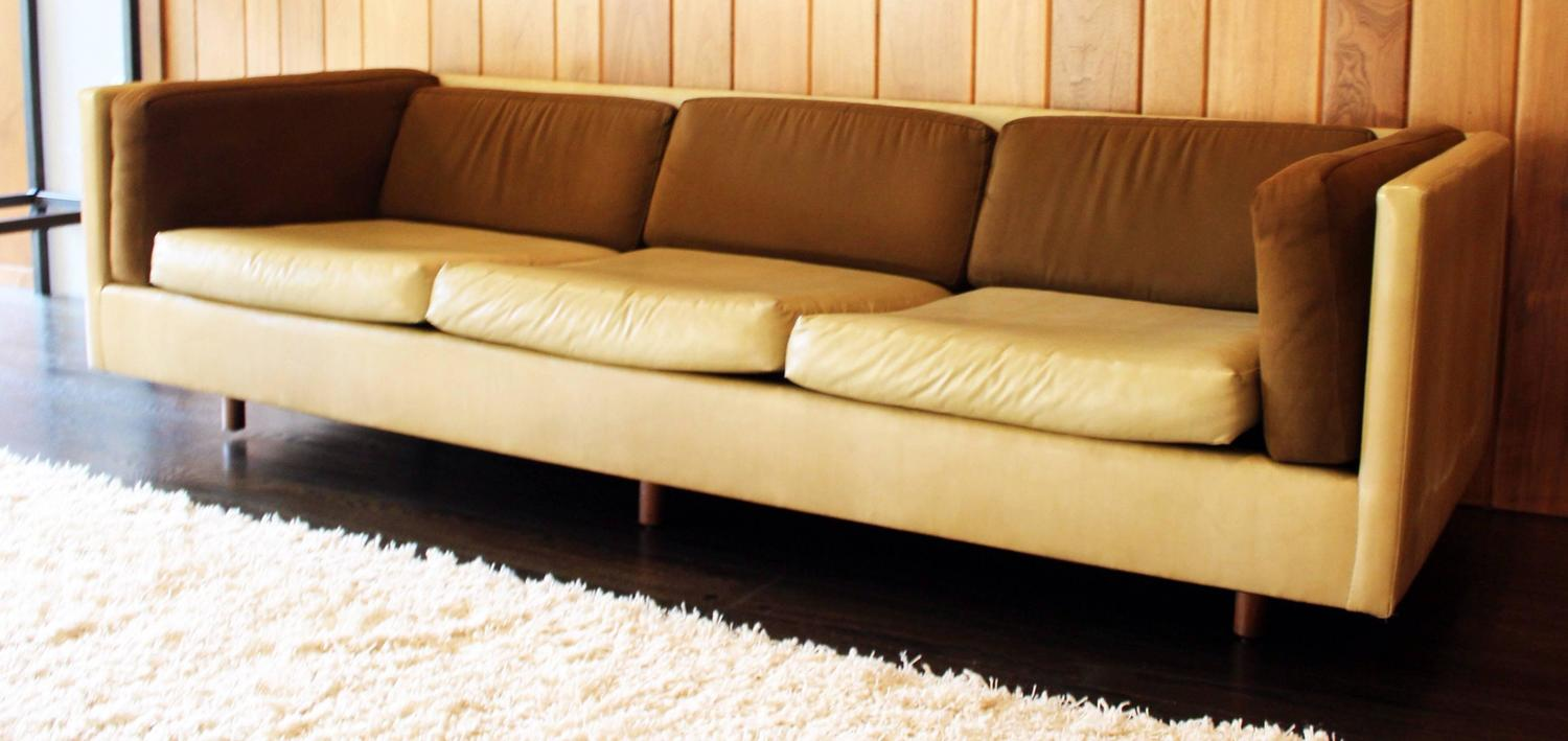 Harvey probber suede leather brown beige sofa for sale at for Suede couches for sale