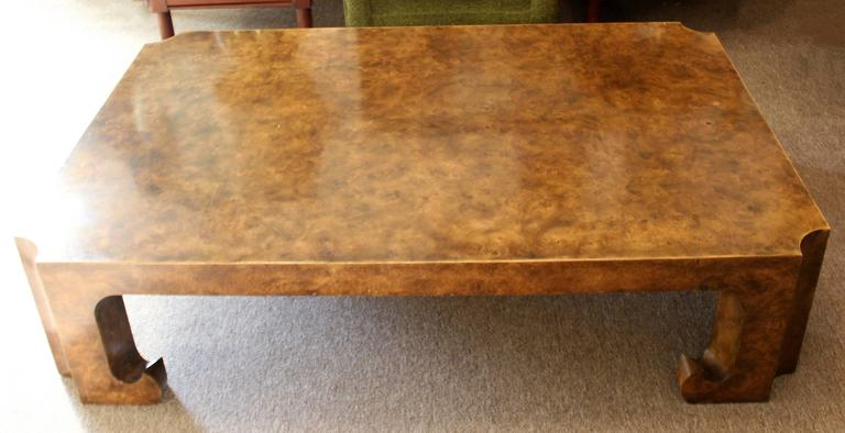 Asian Style Burl Wood Coffee Table From The Collector S Edition By Baker In Very