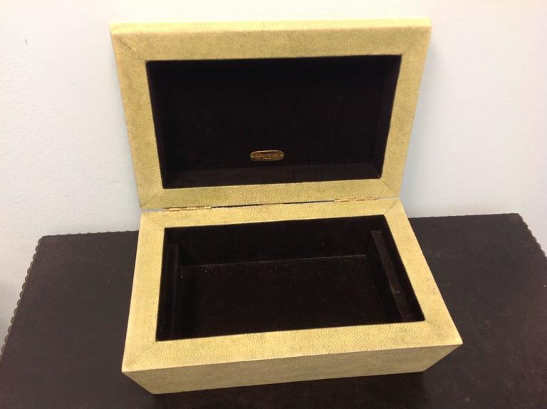 Mid-Century Modern R & Y Augousti Paris Shagreen Box For Sale