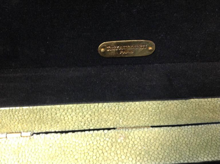 French R & Y Augousti Paris Shagreen Box For Sale
