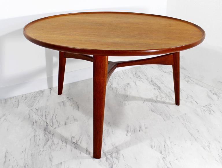 Round Danish Teak Coffee Table By Madsen And Larsen For Beck At 1stdibs