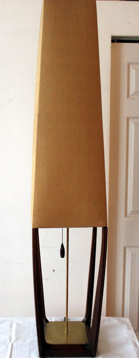 sculptural walnut mid century modern floor lamp for sale at 1stdibs. Black Bedroom Furniture Sets. Home Design Ideas