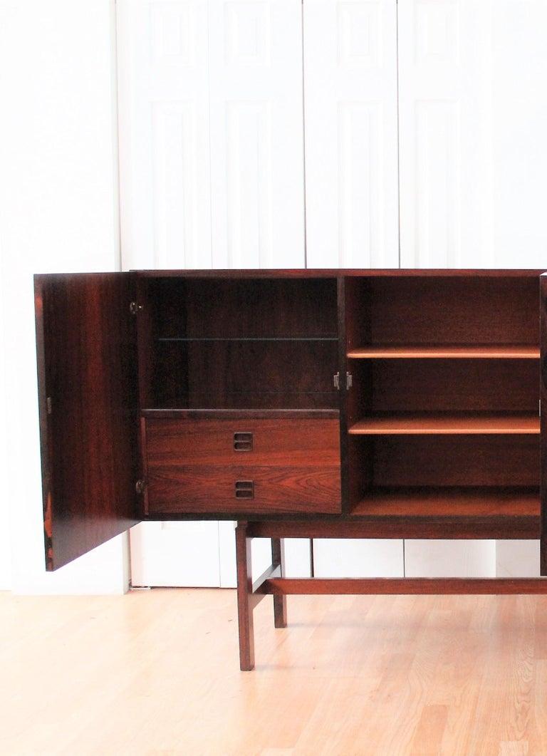 Arne Vodder Brazilian Rosewood Sideboard Credenza For Sale 2