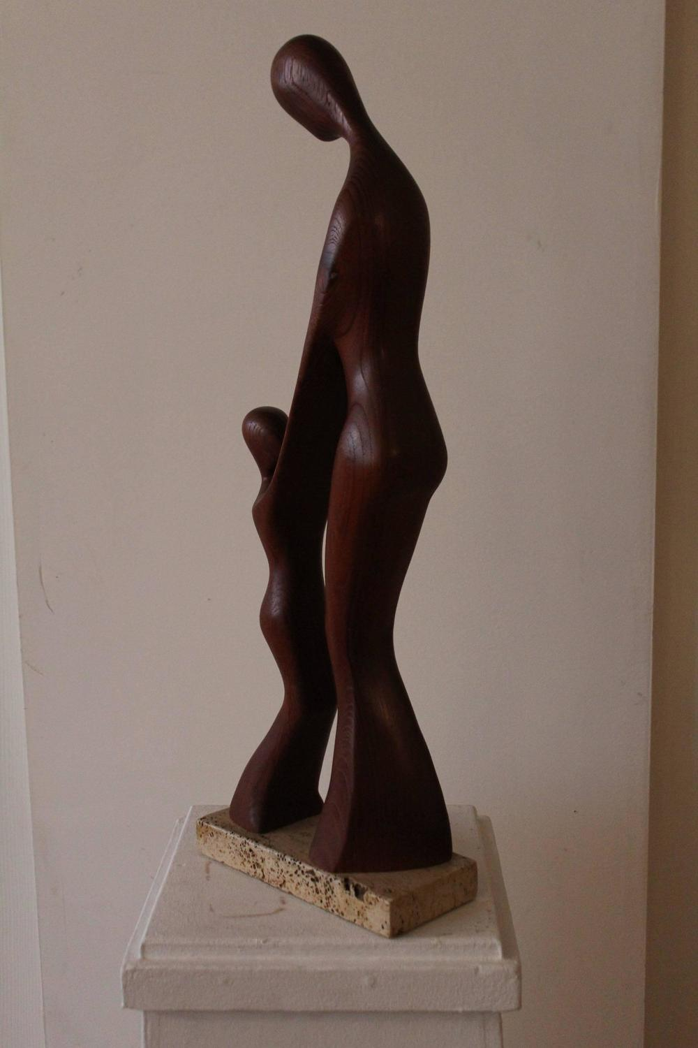 Gert Olsen Mother And Child Teak Sculpture For Sale At 1stdibs