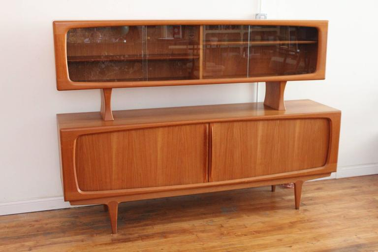 Danish Style Credenza : Bernhard pedersen and søn teak danish modern credenza buffet with