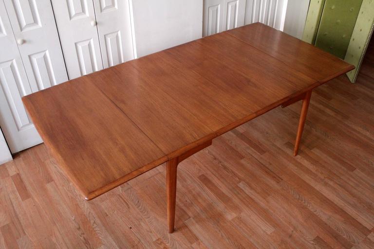 Danish Svend Madsen Teak Drop-Leaf Dining Table For Sale