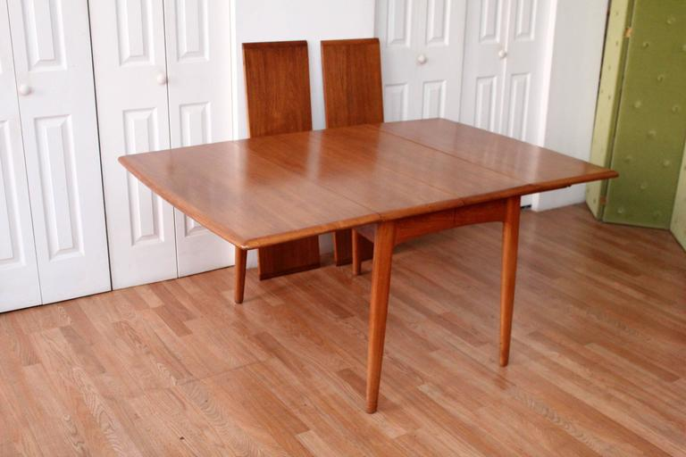Mid-20th Century Svend Madsen Teak Drop-Leaf Dining Table For Sale