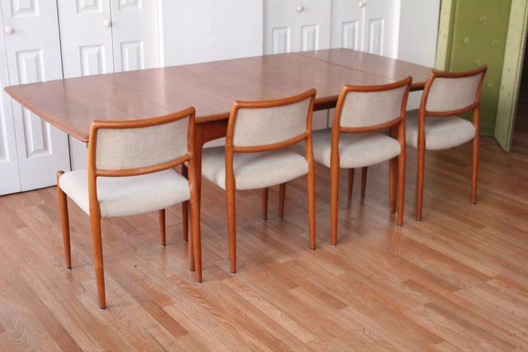Svend Madsen Teak Drop-Leaf Dining Table For Sale 1