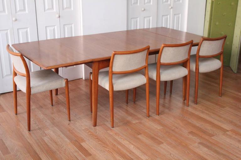 Svend Madsen Teak Drop-Leaf Dining Table For Sale 2
