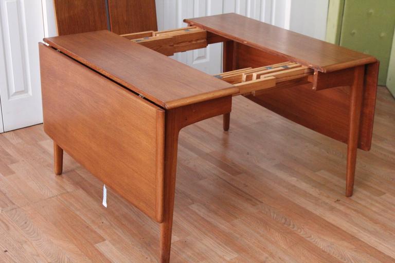 Svend Madsen Teak Drop-Leaf Dining Table For Sale 3