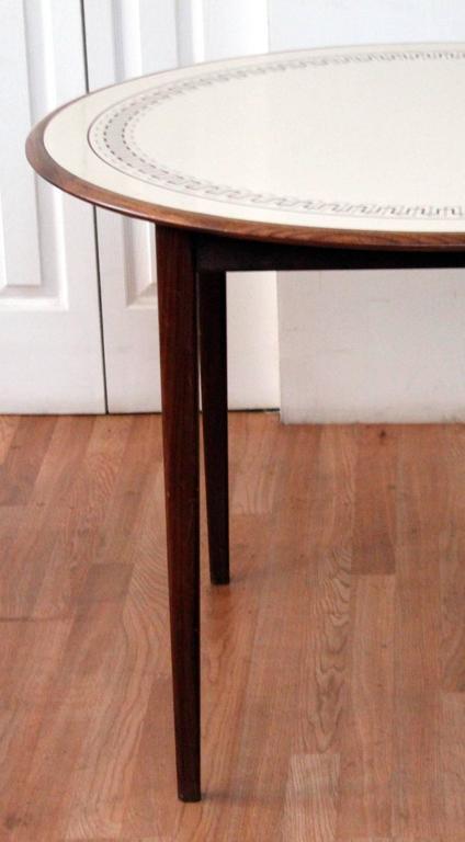 Round Greek Key Solid Walnut Dining Table At 1stdibs