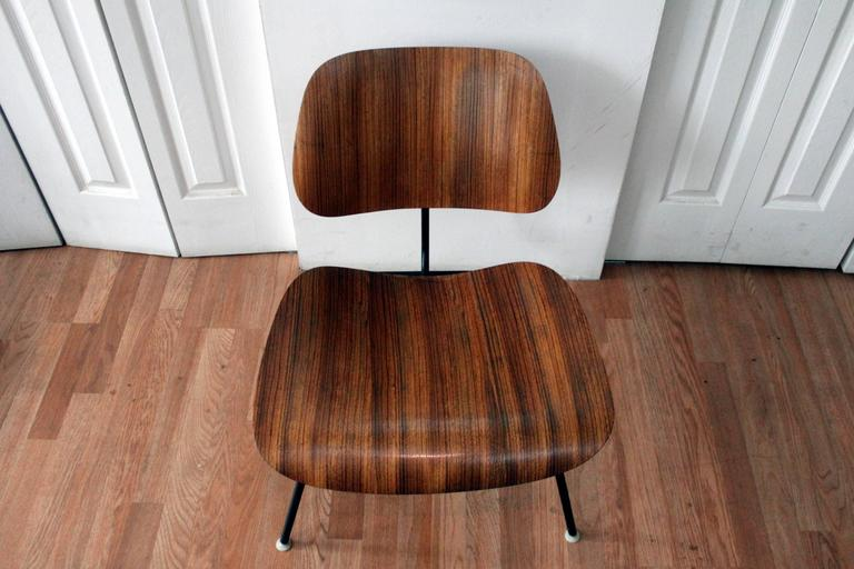 Merveilleux All Original Classic Early Eames LCM Zebra Wood Lounge Chair. Original  Labels, Nylon Glides