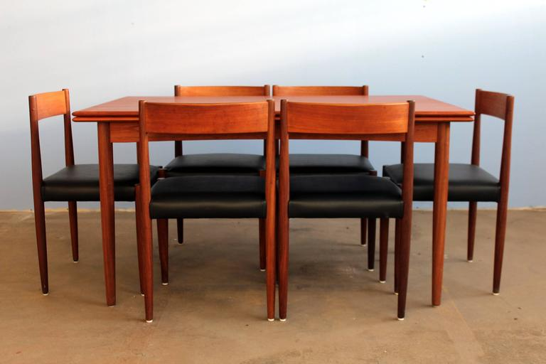 Poul Volther Chairs And Expansive Danish Teak Dining Table Set 3