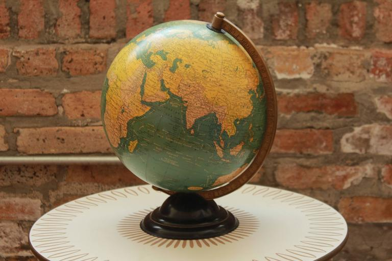 Ground control to Major Tom! Internally lit Glass orb illuminated globe by Cram. View the images and find French West Africa and Italian East Africa! Travel around the world in a time long forgotten, as documented by this historic, hard to find,
