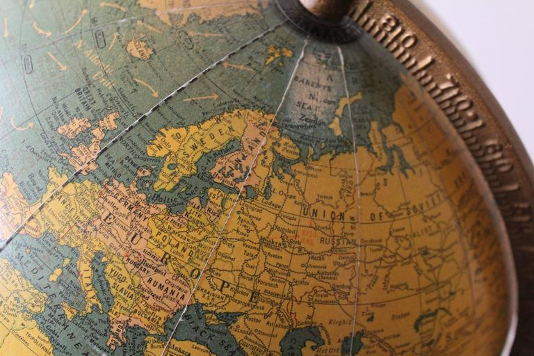 George F Cram Terrestrial Glass Illuminated Globe For Sale 2