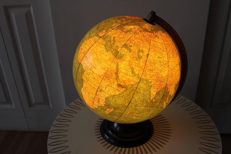 George F Cram Terrestrial Glass Illuminated Globe For Sale 4
