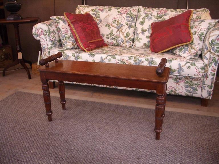 19th Century Mahogany Window Seat For Sale at 1stdibs