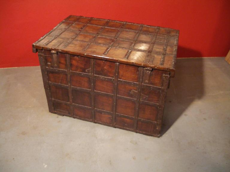 Anglo-Indian 19th Century Anglo Indian Small Antique Chest For Sale