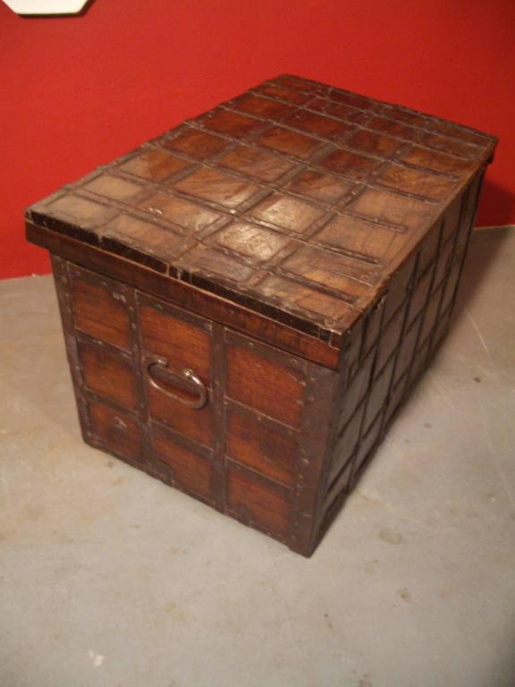 Mid-19th Century 19th Century Anglo Indian Small Antique Chest For Sale
