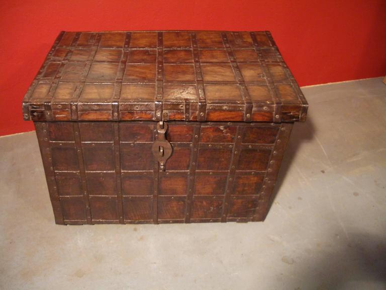 19th Century Anglo Indian Small Antique Chest For Sale 1