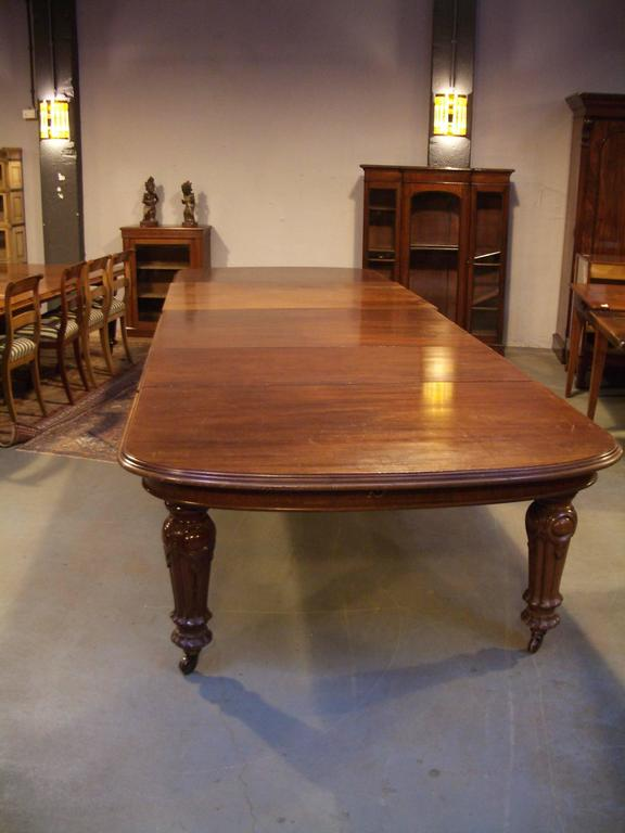 Mahogany Great Impressive Antique Victorian Dining Table For Sale