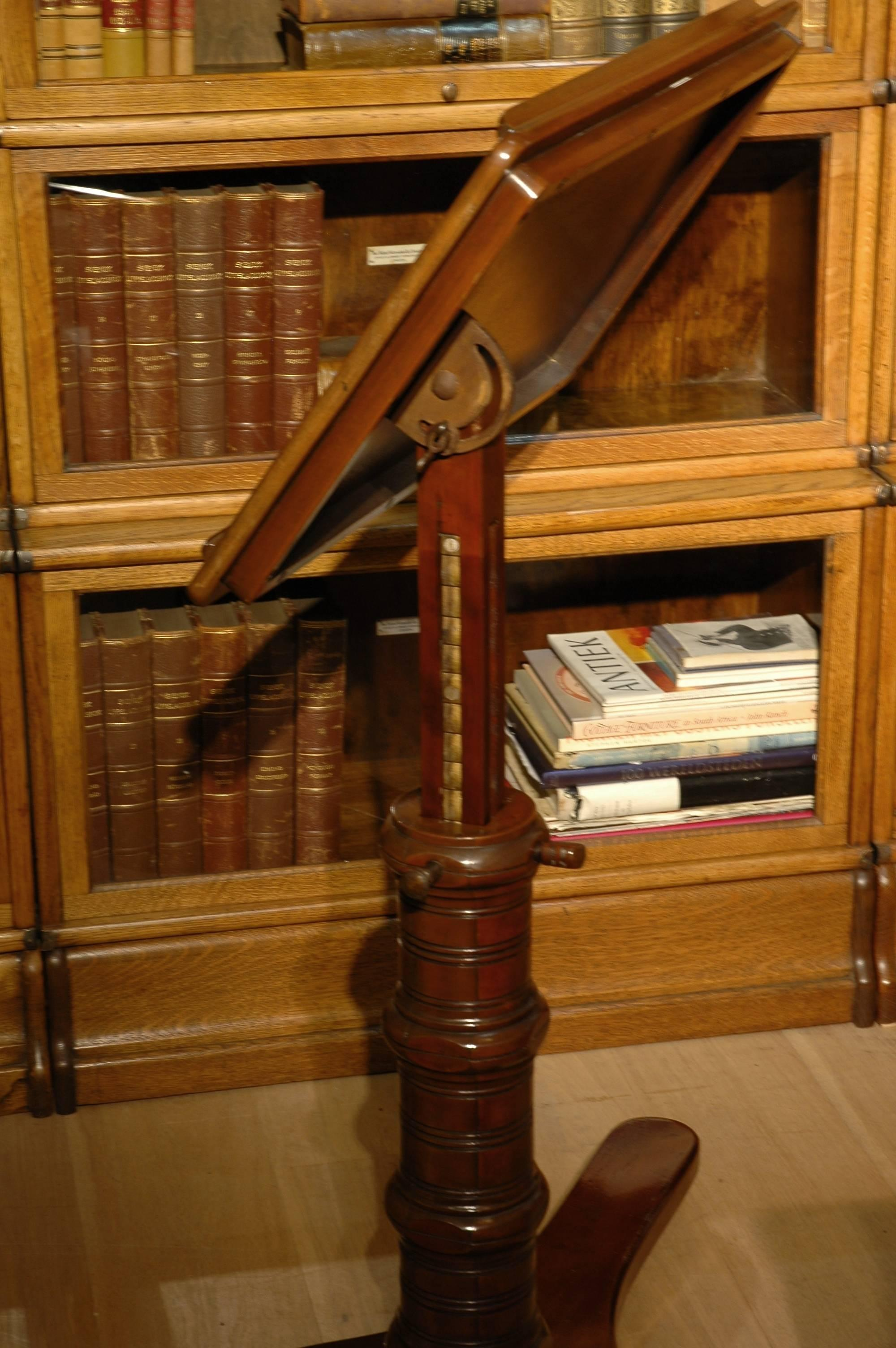 Edwardian Mahogany Reading Table Or Book Stand For Sale